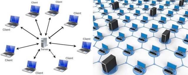 Ilustrasi Gambar Komputer Client HUB