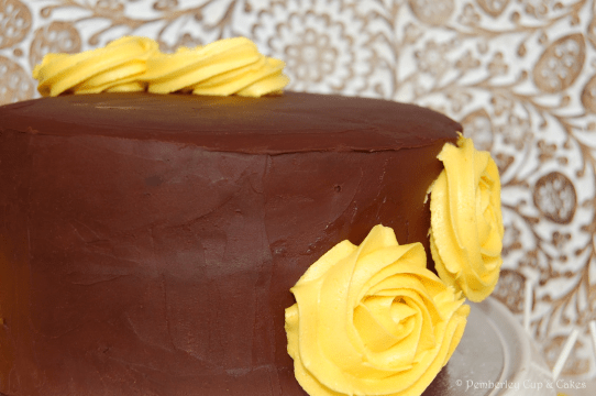 Orange Chocolate Layer Cake