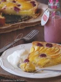 Peach & Raspberry Frangipane Tart {Tarta de Melocotón y Frambuesas con Crema de Almendras}