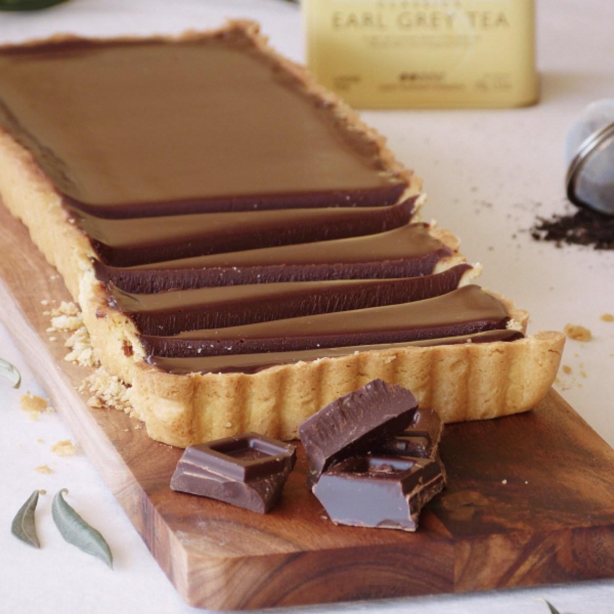 Tarta de chocolate y earl grey