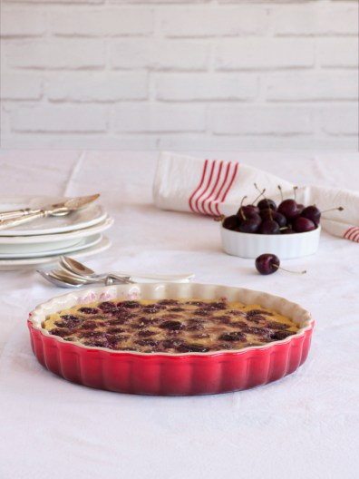 Clafoutis (tarta de cerezas francesa)