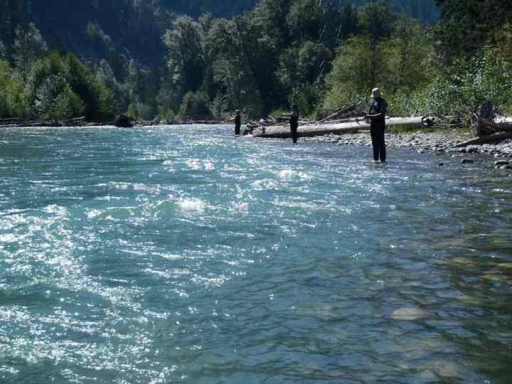Family fishing in Pemberton BC