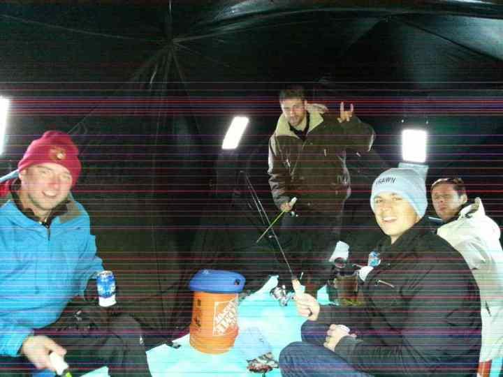 Fishing in an Ice Hut