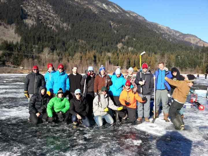 Ice Fishing Large Corporate Groups and Bachelor Parties Whistler BC
