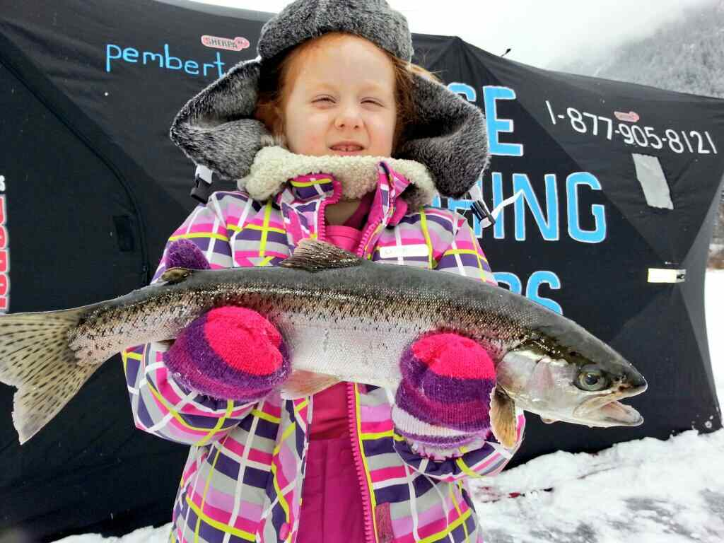 Big Rainbow Trout Ice Fishing