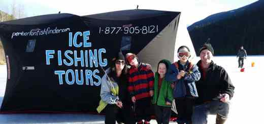 Family ice fishing tours in Whistler and Pemberton