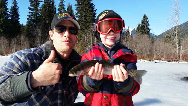 Ice fishing trips in Whistler BC