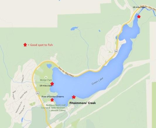 Fishing Green Lake in Whistler BC