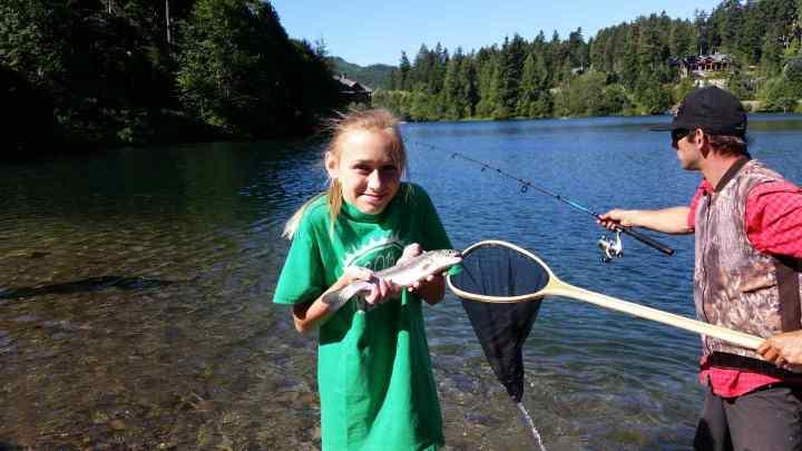 Fishing Nita Lake in Whistler British Columbia