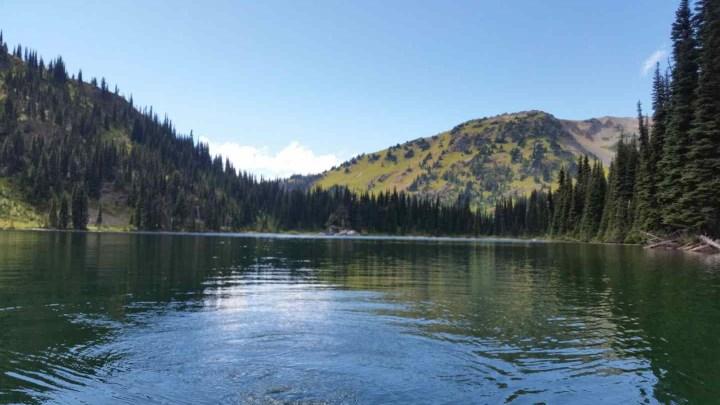 Alpine lake fishing in Whistler BC