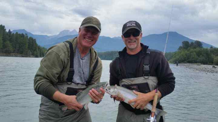 Double header Salmon fishing fun