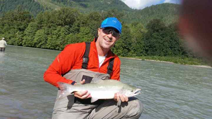 Fly fishing for pink salmon in Squamish BC
