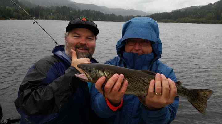 Fishing Alta Lake in Whistler BC