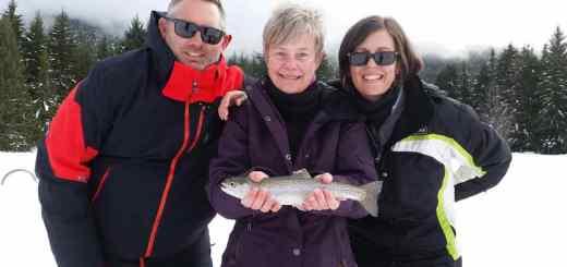 2016 Lost Lake ice fishing in Whistler BC