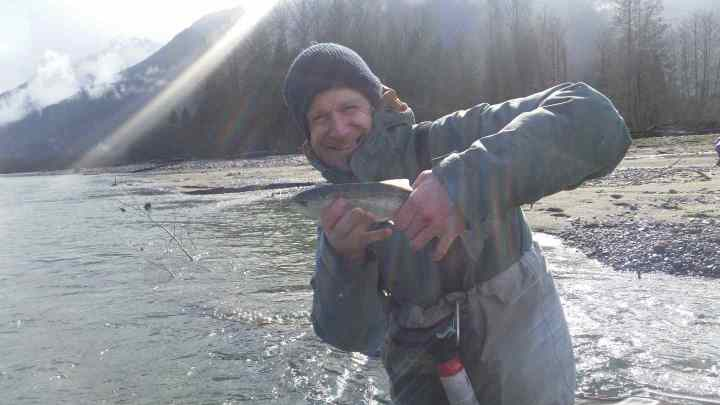 Fly fishing for Trout in BC