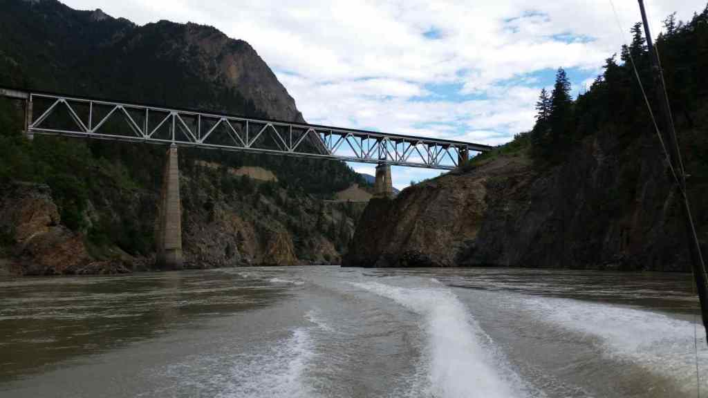 Fraser river Sturgeon fishing in Canada