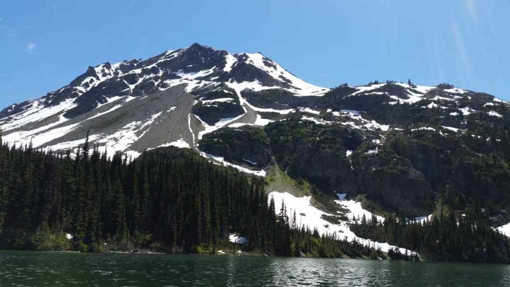 Remote Alpine lakes in British Columbia Canada