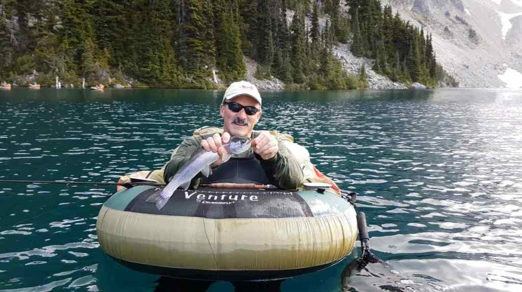 Fly fishing a remote lake in British Columbia