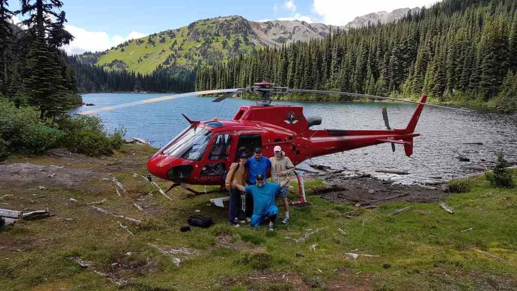 Its Heli Fishing Season in British Columbia Canada