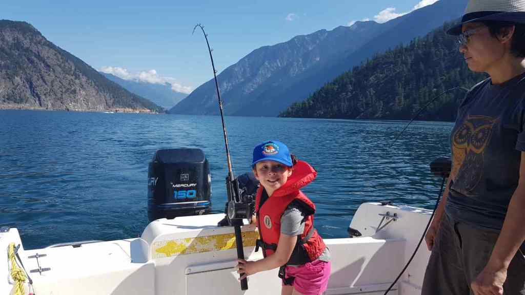 Trolling lakes in British Columbia