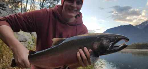 Fun Coho Salmon fishing near Whistler BC Canada