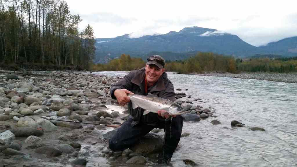 Hatchery Coho Salmon fly fishing in Squamish