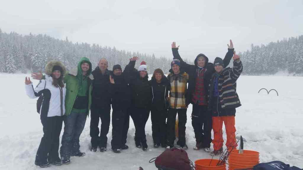 Winter fishing trips in Canada