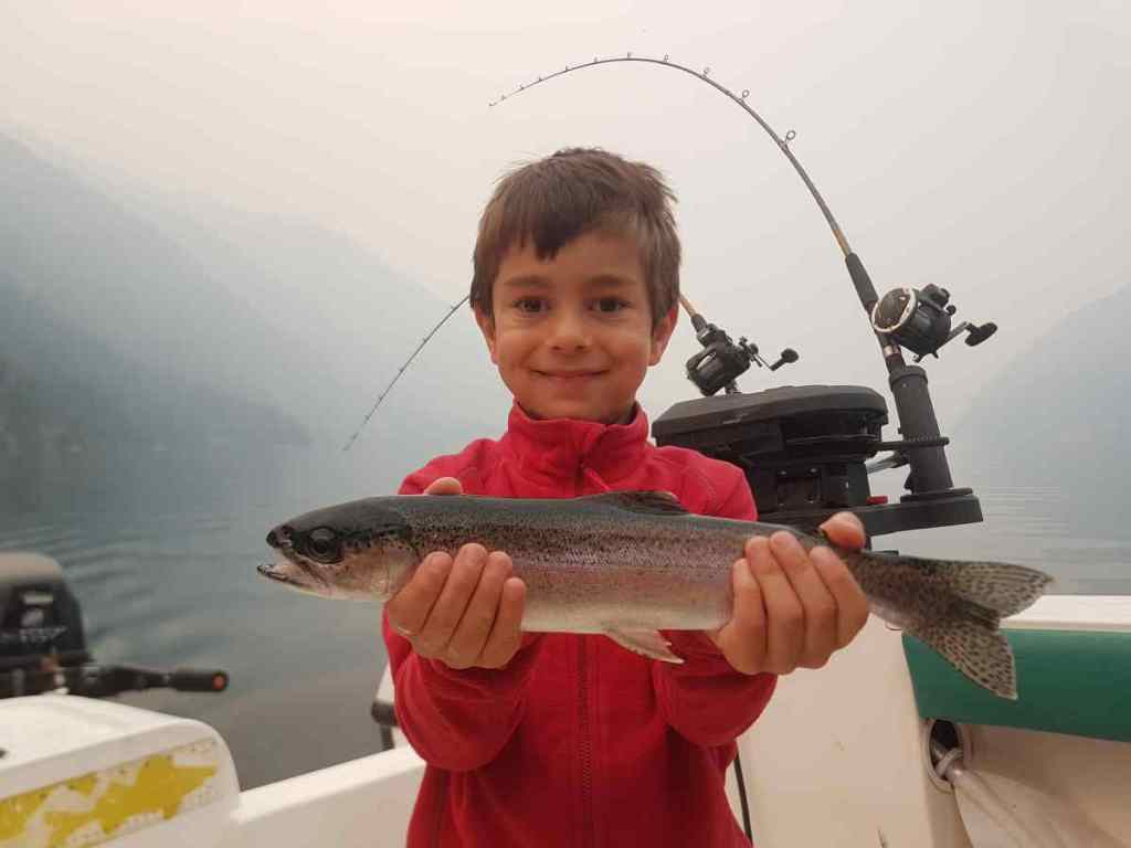 Children fishing in BC
