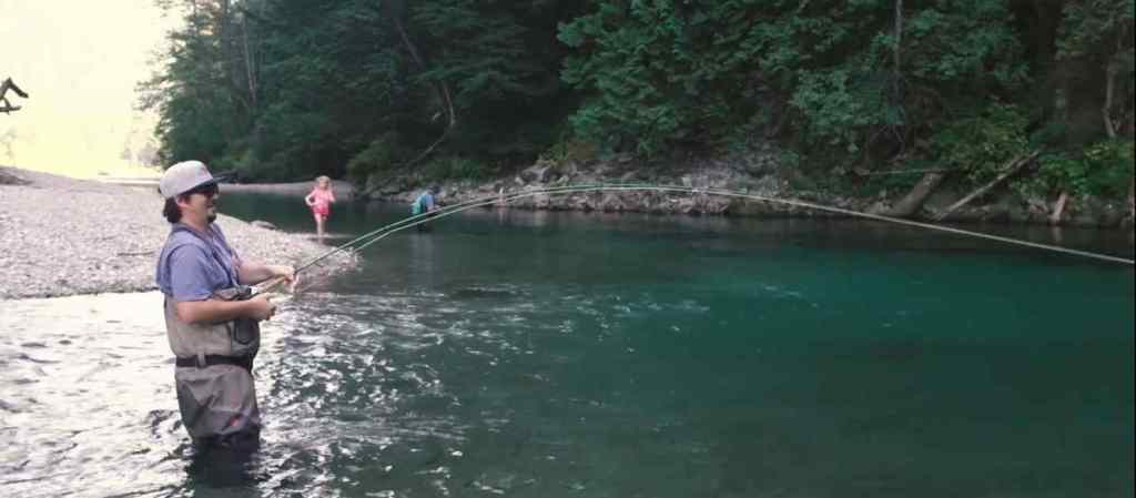 Fly fishing Pink Salmon
