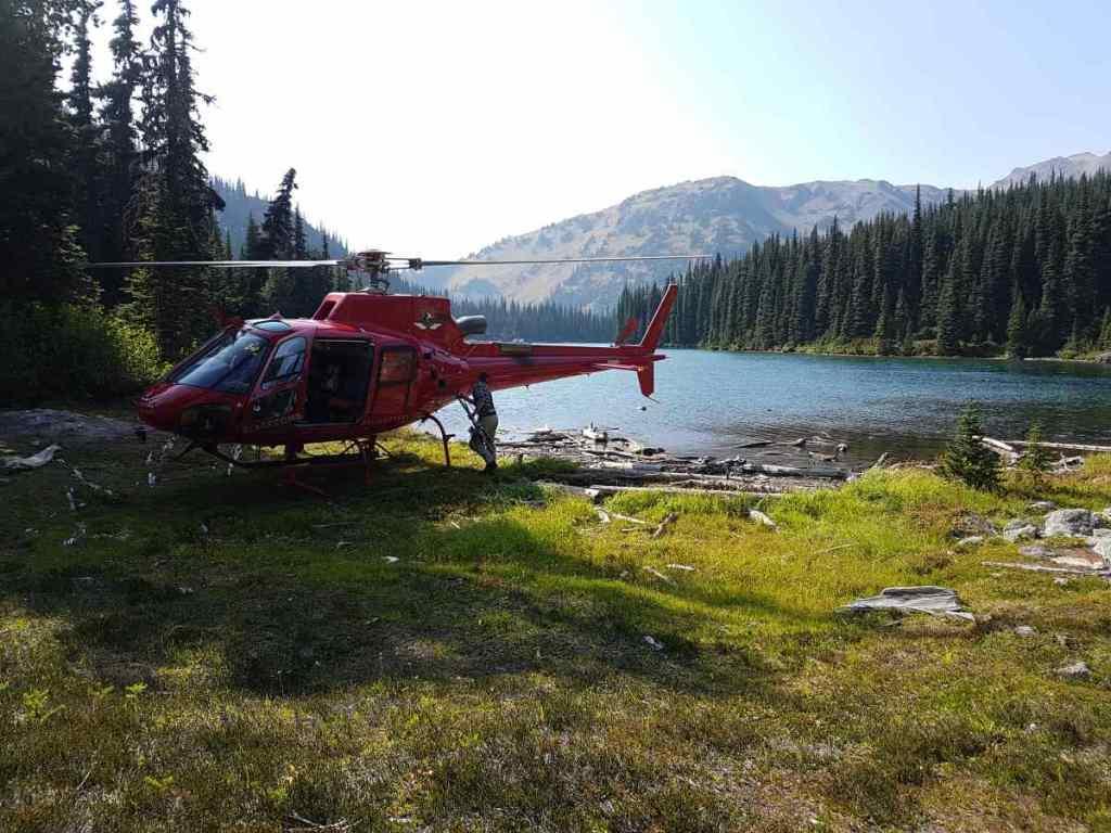 Heli fishing trips Canada