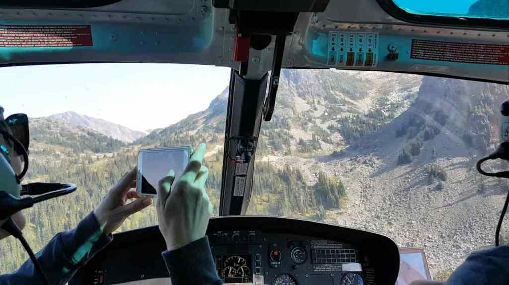 Helicopter flights in BC