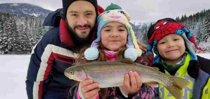 Winter Activities in Whistler BC Canada Ice Fishing