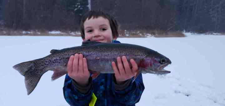 Family Ice fishing trips in Whistler BC Canada