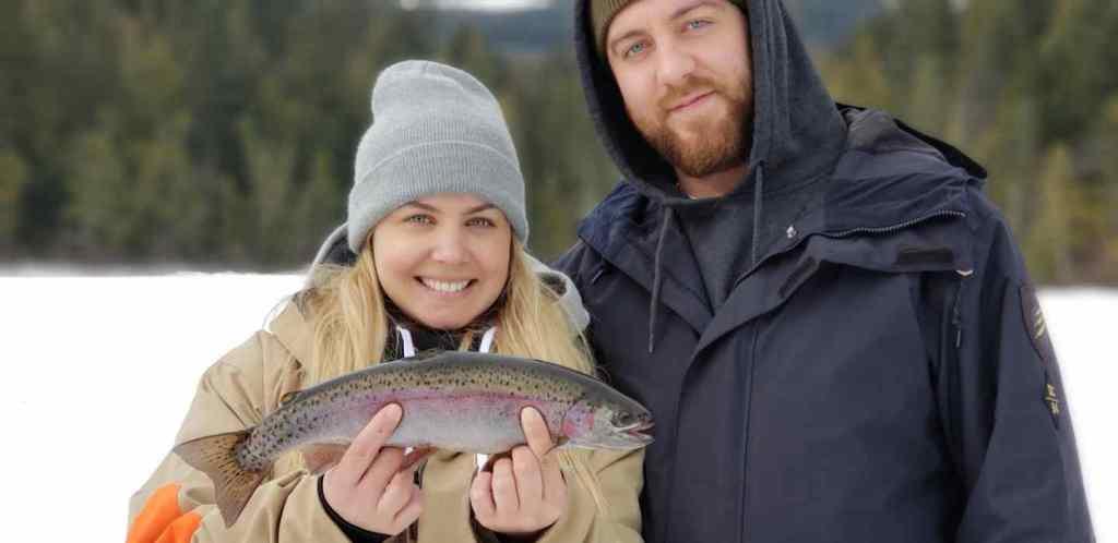 Fun Ice fishing in Whistler BC