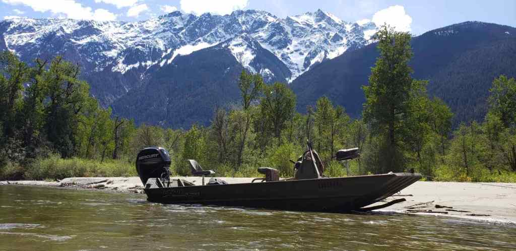 Jet Boat River fishing trips in BC Canada