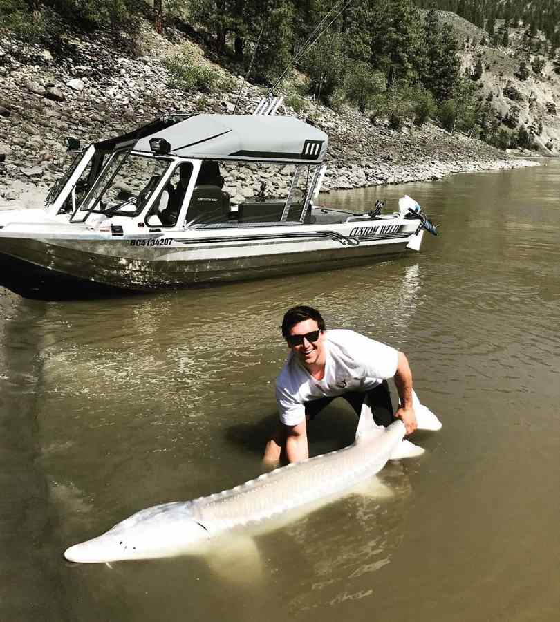 Sturgeon fishing in Lillooet BC