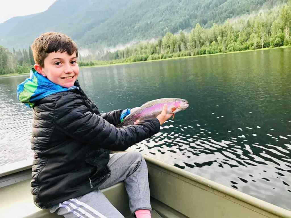 Small lake fly fishing trips in BC