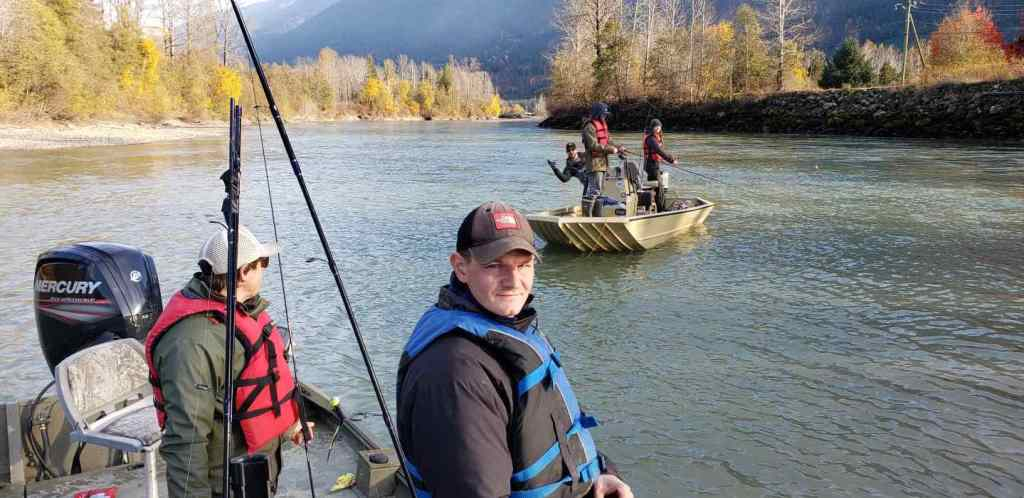 Guided jet boat Salmon fishing trips in BC Canada
