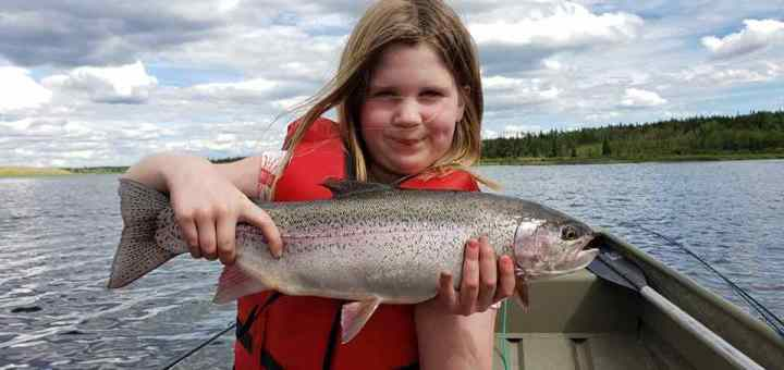 Kids fishing trips in BC