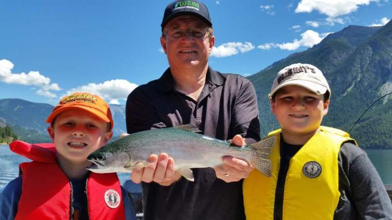 Families Fishing in BC Canada