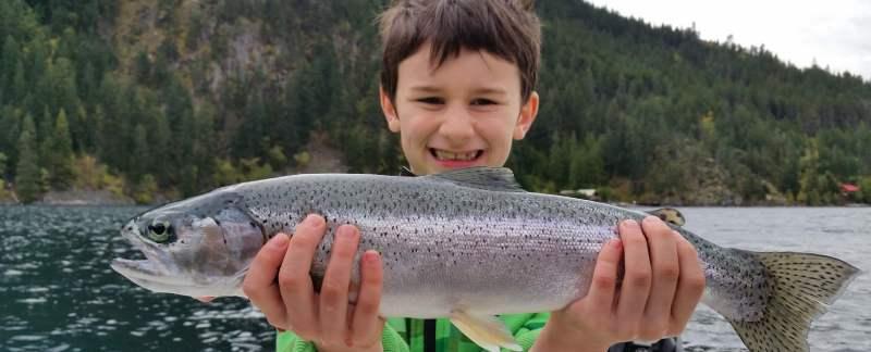 Kids love fishing in Whistler BC