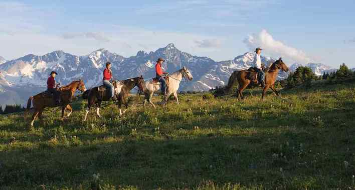 Horseback riding in Whistler and Pemberton BC Canada