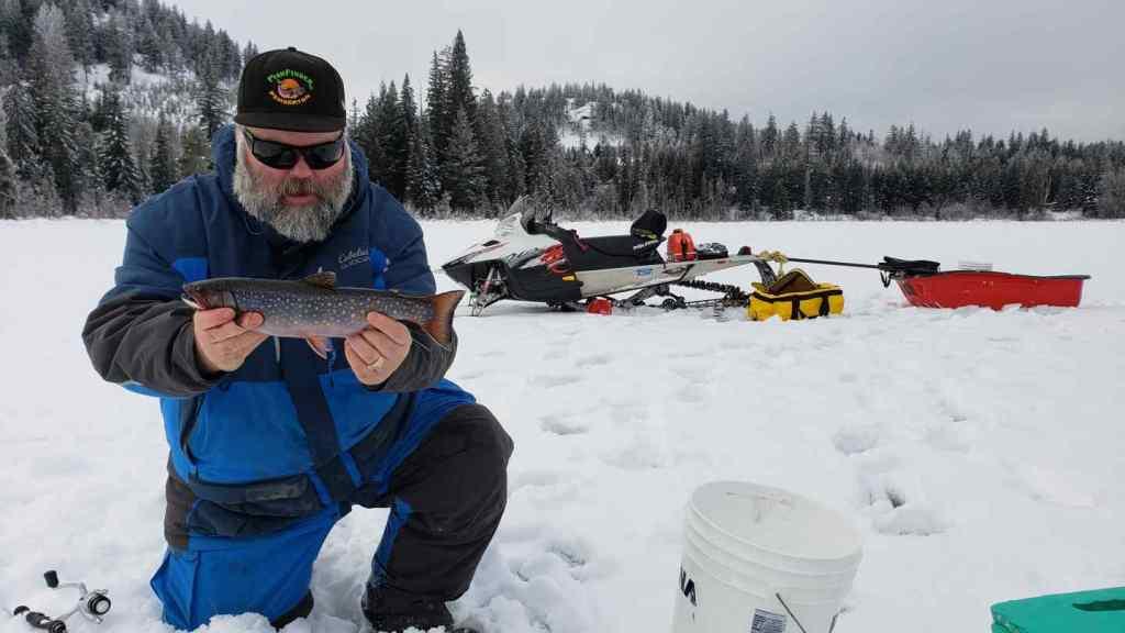 Snowmobile Ice Fishing Trips in Whistler British Columbia Canada