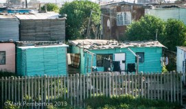 Shanties on the outskirts of Cape Town.