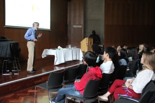 The students were kept on their feet with Rob's quick-fire questions.