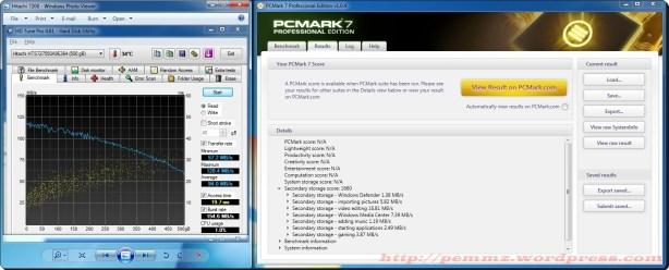 Hitachi 500GB 7200rpm Benchmark