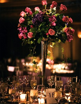 Purple splendor and magical candle light