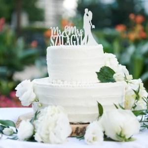 White Mini Wedding Cake - Photo