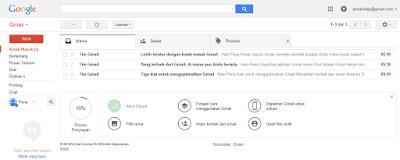 tampilan hamalan dasboard gmail