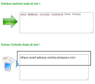 cara membuat tulisan terbalik